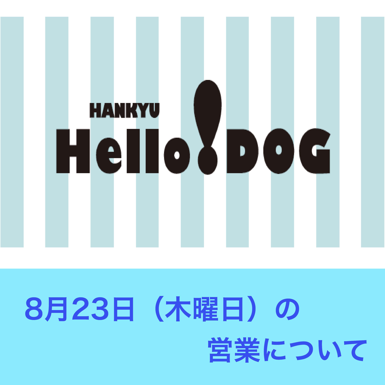 8月23日(木曜日) 阪急ハロードッグ各店の営業について
