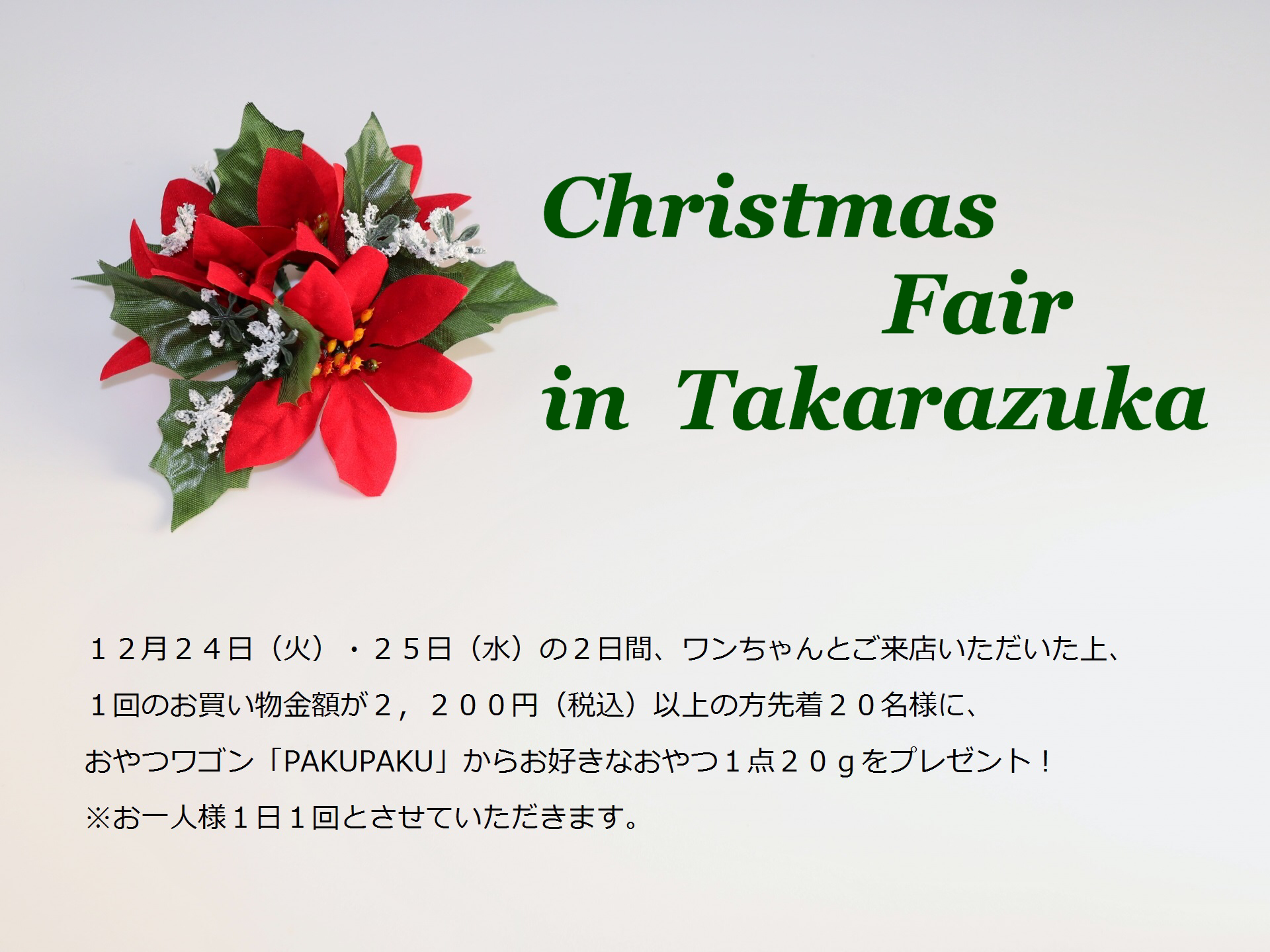 2019/12/24-25 宝塚 Christmas Fair in Takarazuka